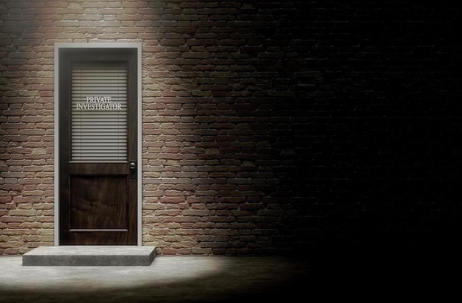 Area Digital Art - Private Eye Door Outside by Allan Swart