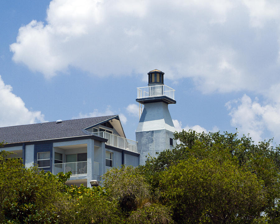 Private Lighthouse On The Indian River Lagoon In  Melbourne Florida Photograph by Allan  Hughes