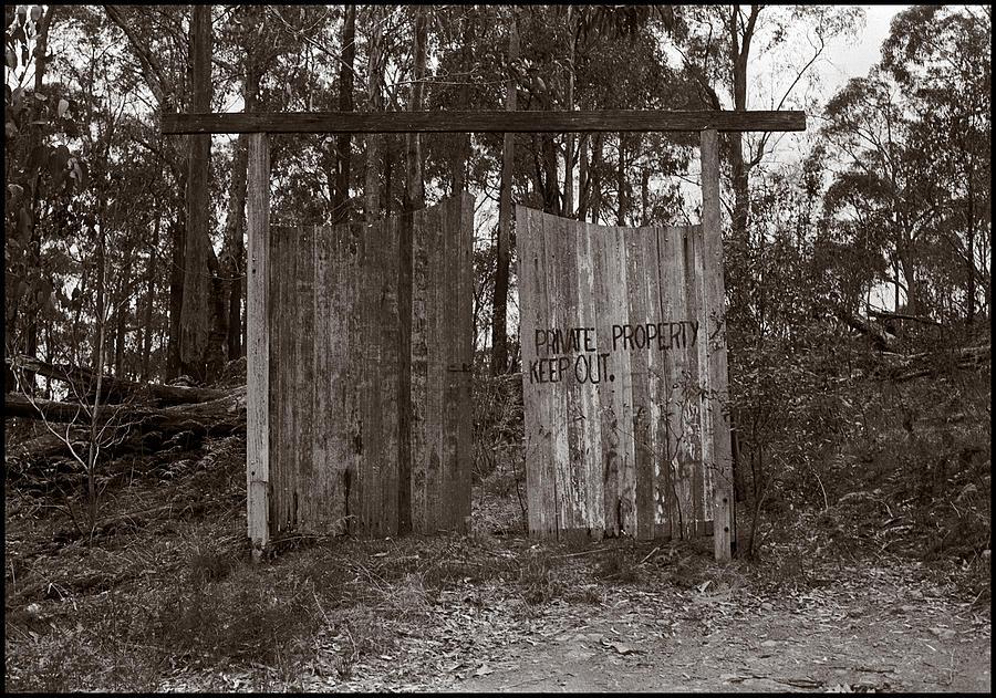 Landscape Photograph - Private Property by Werner Hammerstingl