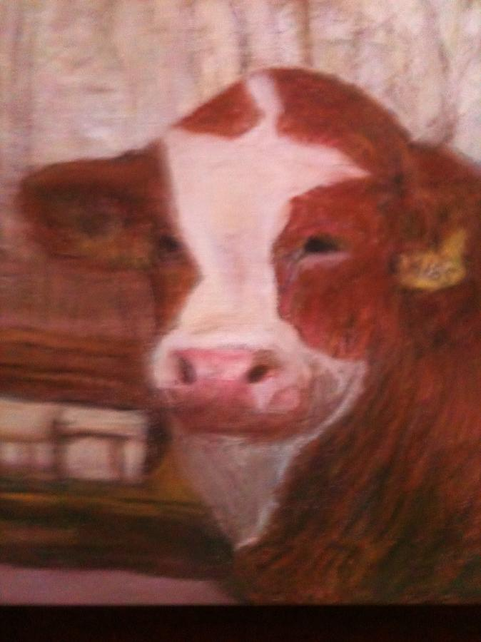 Bull Pastel - Prized Bull by Richalyn Marquez