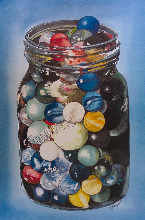 Marbles Painting - Prized Collection by Victoria Heryet