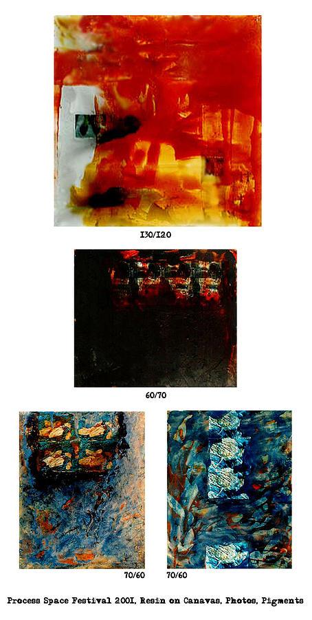 Painting Painting - Process-space 2001 by Milena Stamboliyska