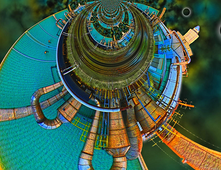 Abstract Digital Art - Processing Point 2 by Wendy J St Christopher