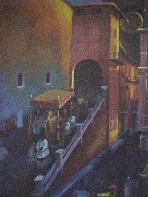 Italy Painting - Procession At San Rufino by Bobbi Baltzer-Jacobo