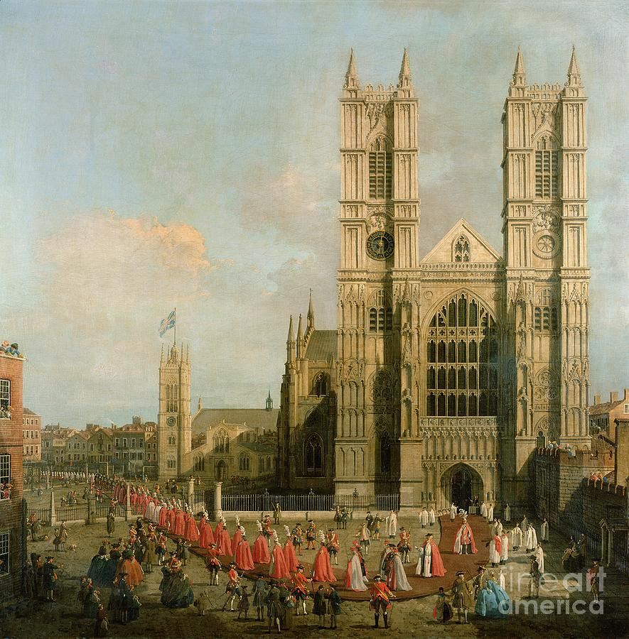 Canaletto Painting - Procession Of The Knights Of The Bath by Canaletto