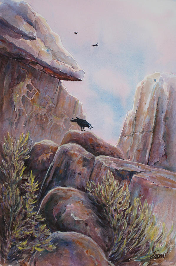 Ravens Painting - Processional by Don Trout