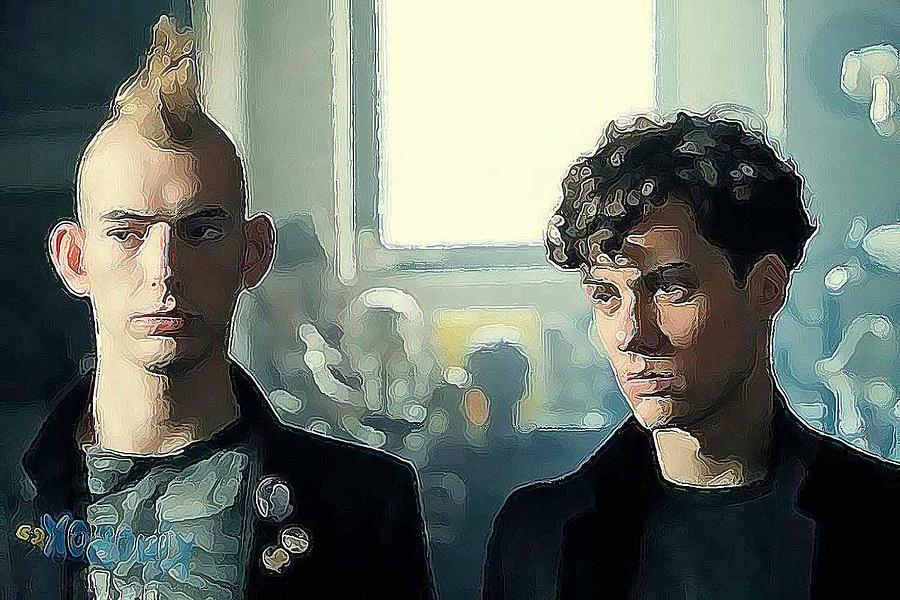 To Fairly Hot Guys In Punk Setting Digital Art - Proclivities by Bob Bienpensant