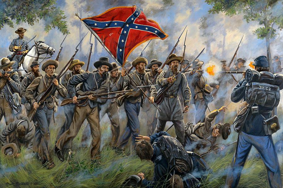 Maritato Painting - Proctors Creek - Second Battle Of Drewrys Bluff by Mark Maritato