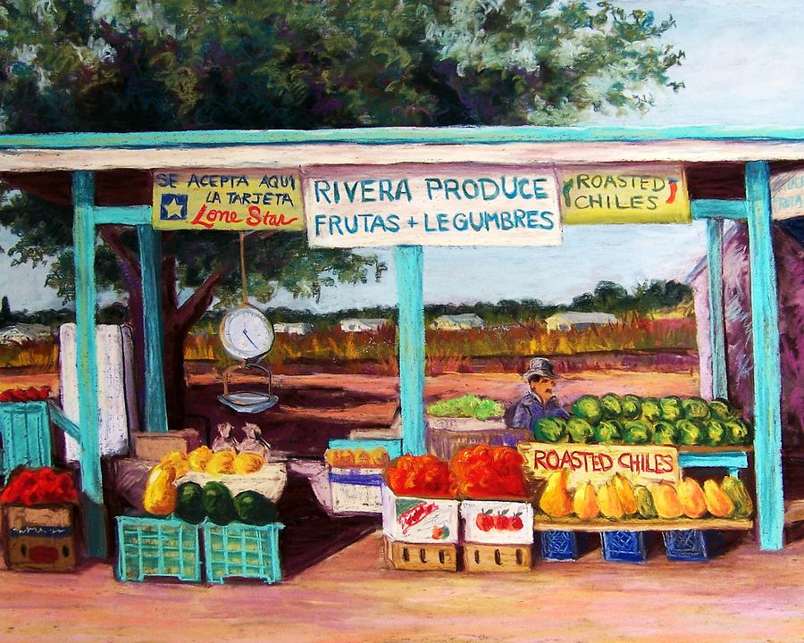 Cityscape Pastel - Produce Stand by Candy Mayer