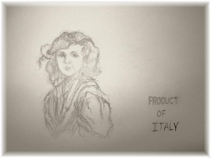 Italian People Drawing - Product Of Italy by Nancy Caccioppo