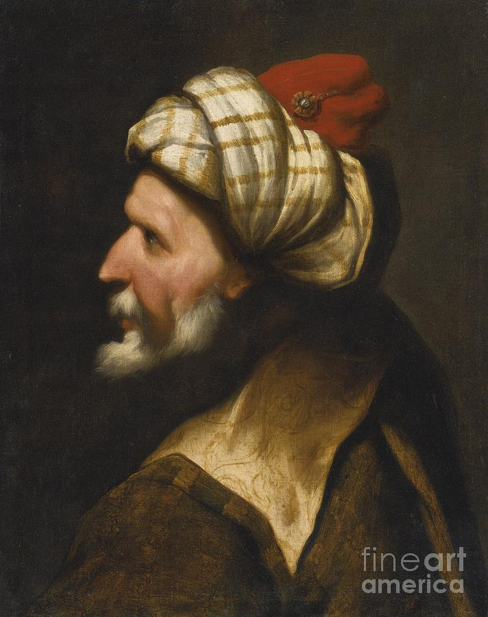 Profile Of A Barbary Pirate Painting by Celestial Images