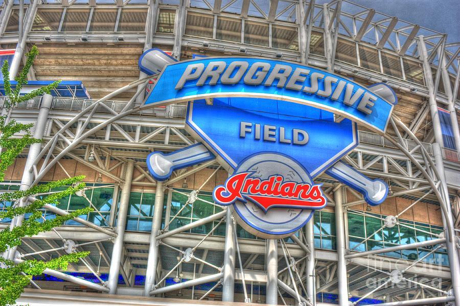Progressive Field Photograph - Progressive Field by David Bearden