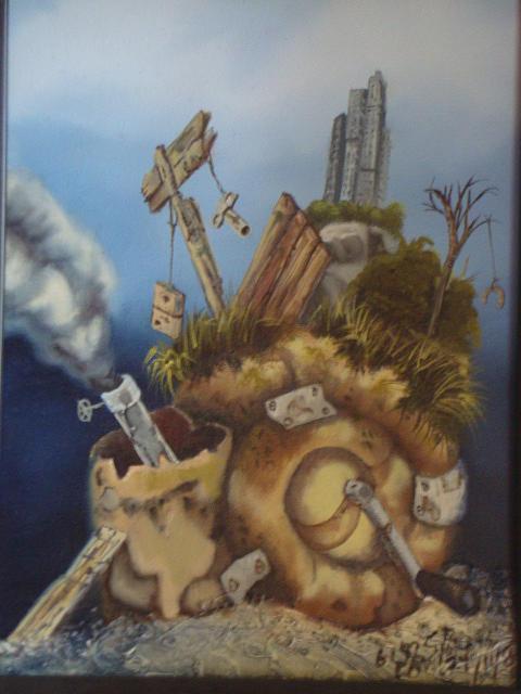 Snail Painting - Prohibido Vivir by Carlos Rodriguez Yorde