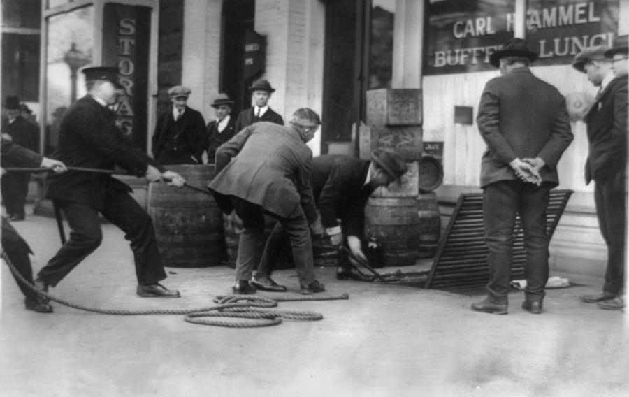 1920s Candid Photograph - Prohibition, Prohibition Officers by Everett