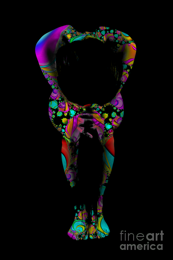 Body Paint Photograph - Projected Body Paint 2094995a by Rolf Bertram