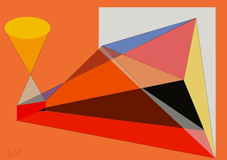 Projection Digital Art - Projection by Helmut Rottler