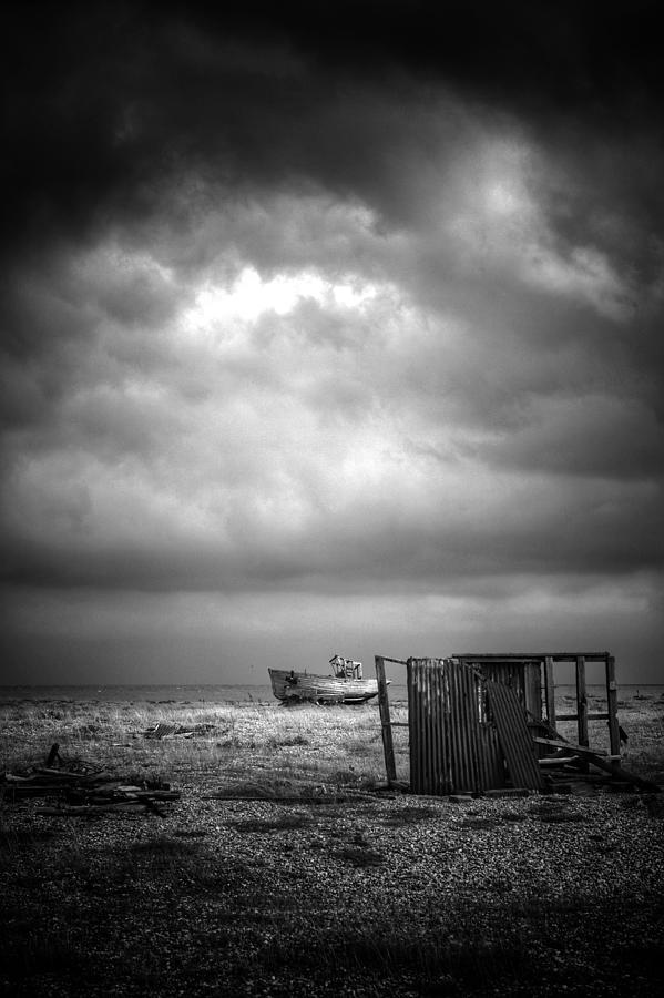 Boat Photograph - Projekt Desolate The Clouds Decend by Stuart Ellesmere