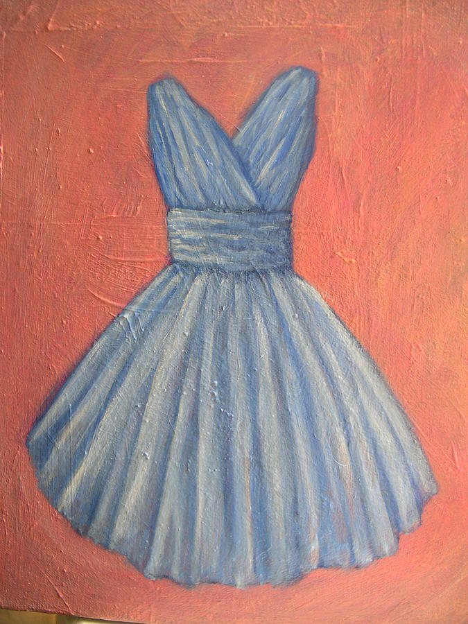 Oil Painting - Prom Dress by Tara Lewis