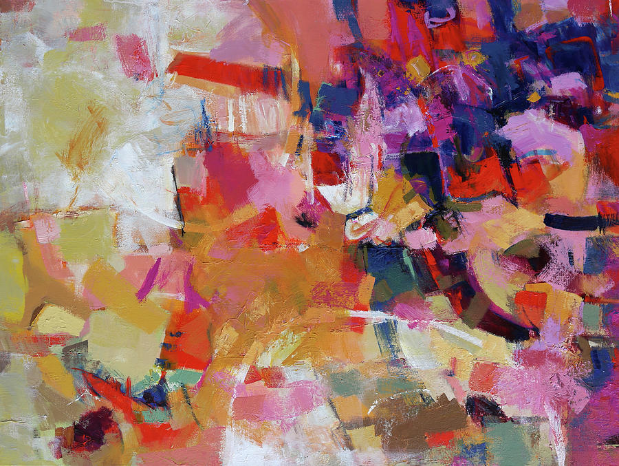 Abstract Painting Painting - Promenade by Elizabeth Chapman