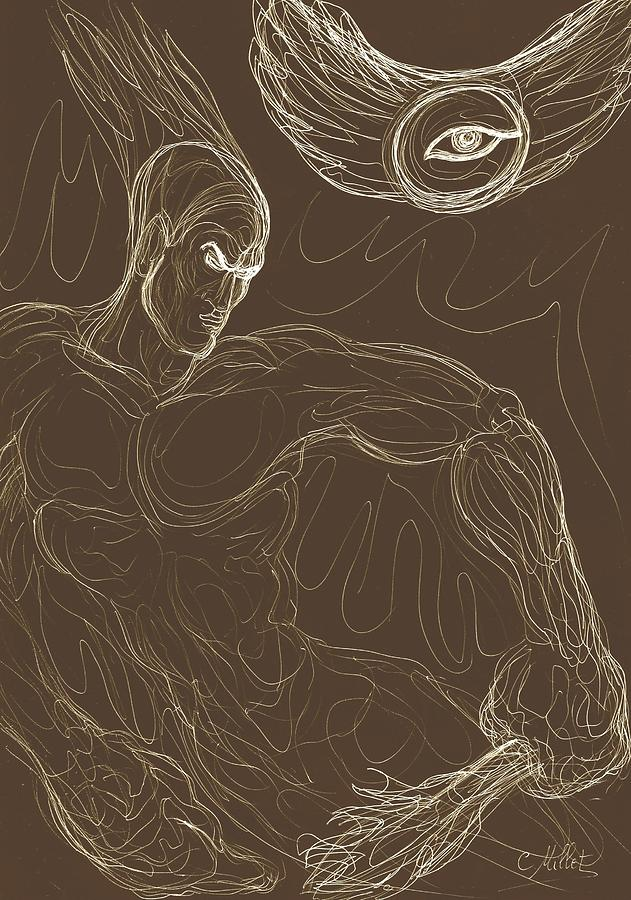 Prometheus Drawing - Prometheus, The Light Bearer by Cindy MILLET