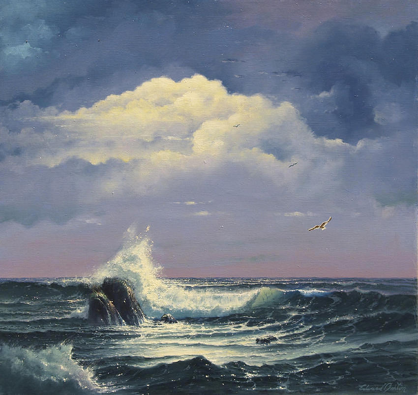 Seascape Painting - Promise by Edward Barton