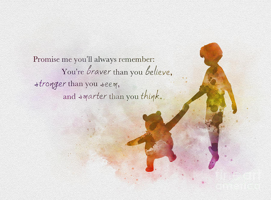 Disney Mixed Media - Promise me youll always Remember by My Inspiration