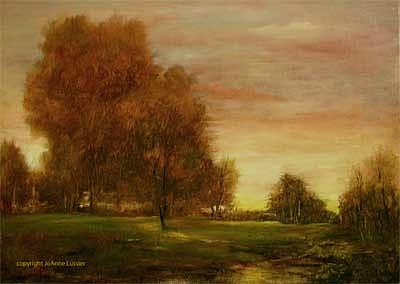 Field Painting - Promise Of A New Day by JoAnne Lussier