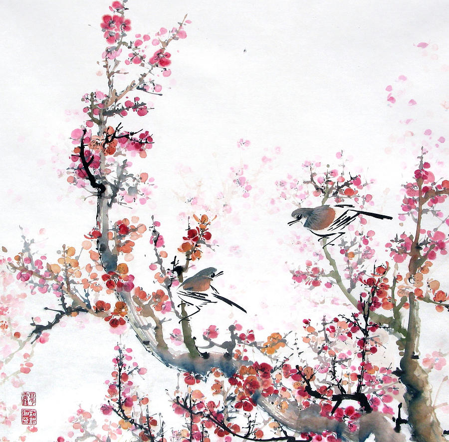 Chinese Painting Painting - promise Of Spring by Gail Racy