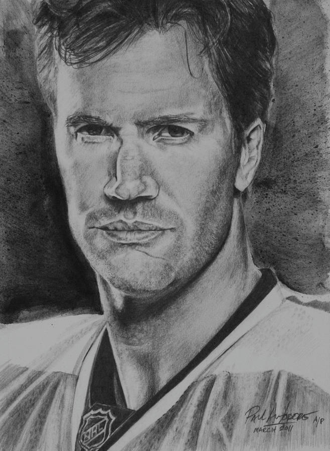 Philadelphia Drawing - Pronger by Paul Autodore