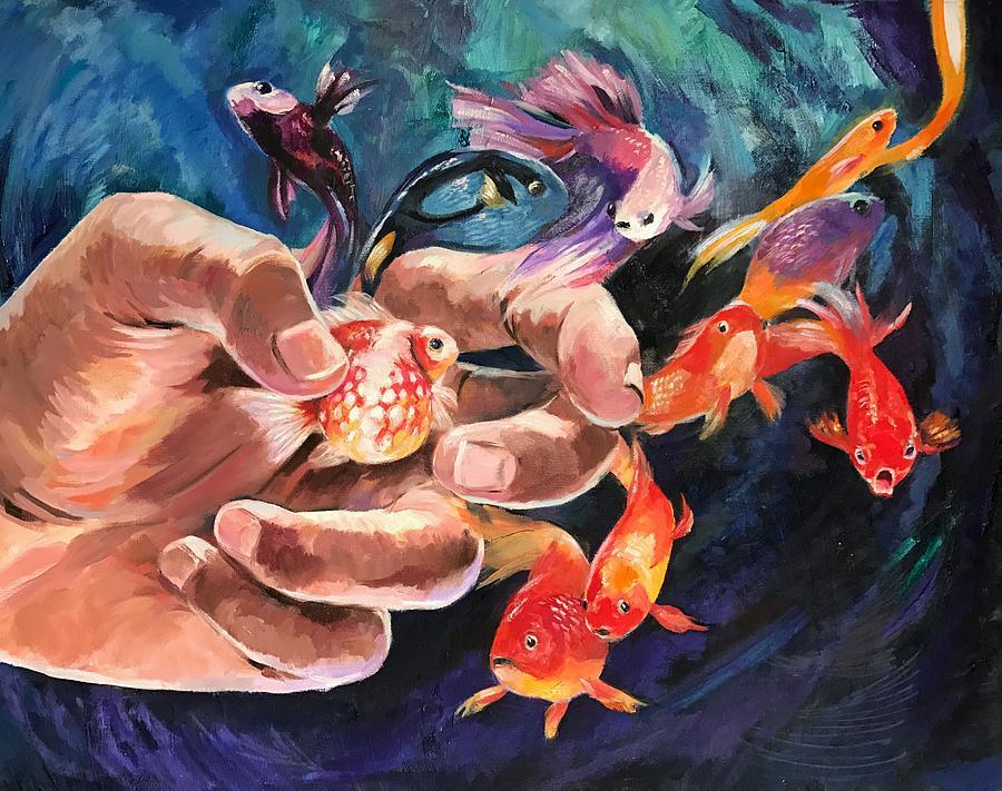 Goldfish Painting - Propagate by Ellan Suder