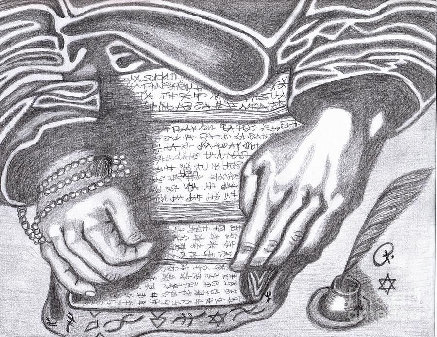 Religious Drawing - Prophesy by Richard Heyman
