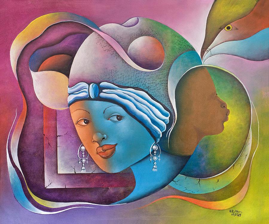 Herold Painting - Prophetic Dream by Herold Alvares
