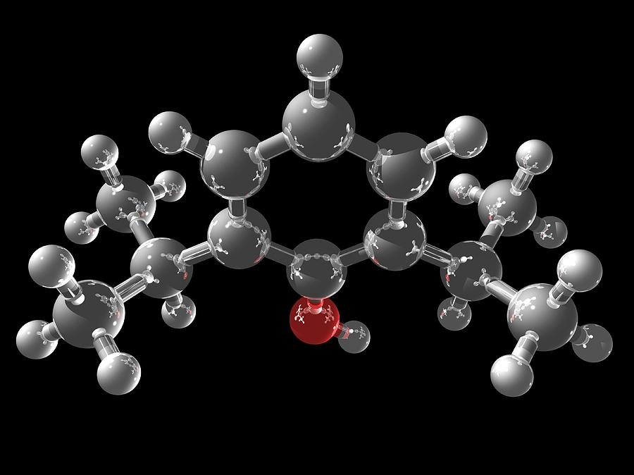 Chemical Photograph - Propofol Molecule by Laguna Design