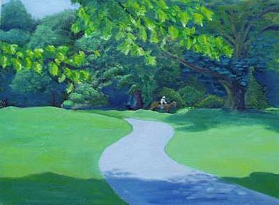 Prospect Park Painting by Danielle Auriemma- Damico