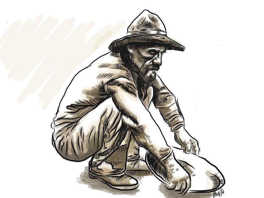 Prospector Digital Art - Prospector by Antonio Romero