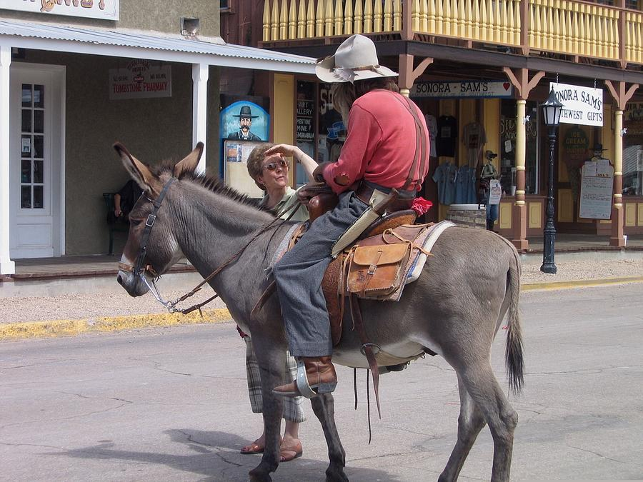 Prospector Re-enactor With Fan Allen Street Tombstone Arizona 200 Photograph by David Lee Guss