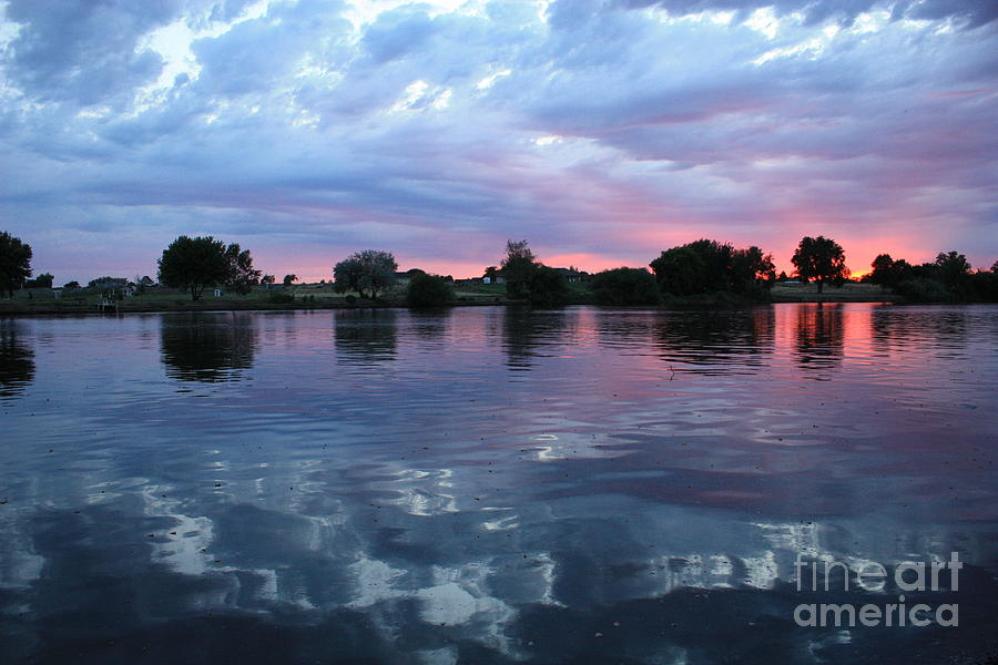 Sunset Photograph - Prosser Pink Sunset 5 by Carol Groenen