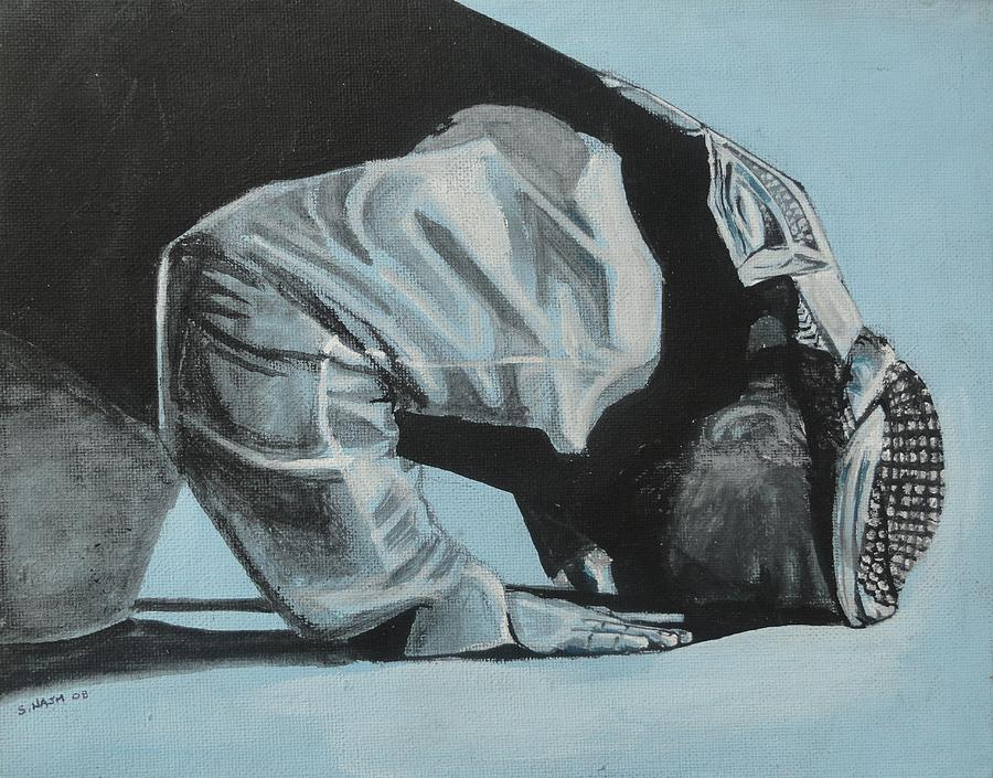 Islam Painting - Prostration In Palestine by Salwa  Najm