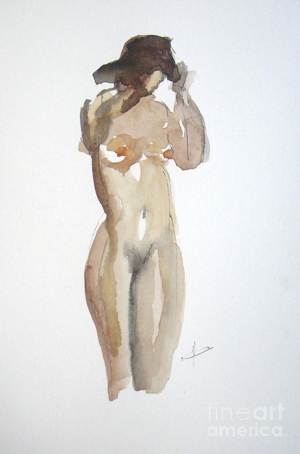 Nude Painting - Protect Yourself by Vesna Antic