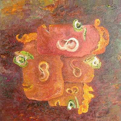 Protected by Three Painting by Karina Ishkhanova