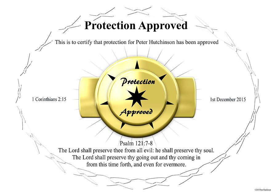 Protection Approved by Peter Hutchinson