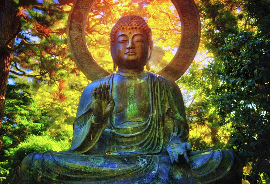 California Photograph - Protection Buddha #2 In Japanese Tea Garden At Golden Gate Park - San Francisco by Jennifer Rondinelli Reilly - Fine Art Photography