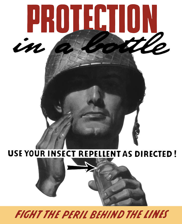 World War Ii Painting - Protection In A Bottle Fight The Peril Behind The Lines by War Is Hell Store