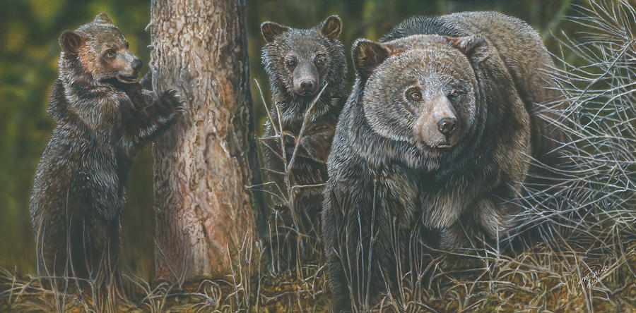 Protective Mother Painting by Wayne Pruse