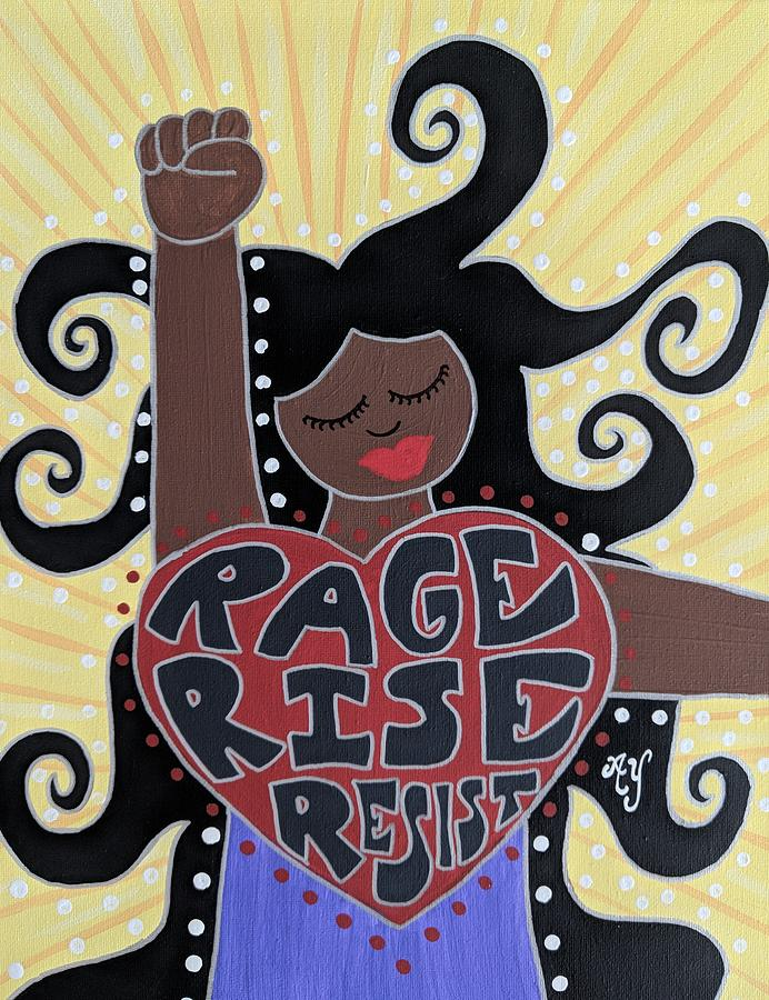 Holy Painting - Protest Goddess by Angela Yarber
