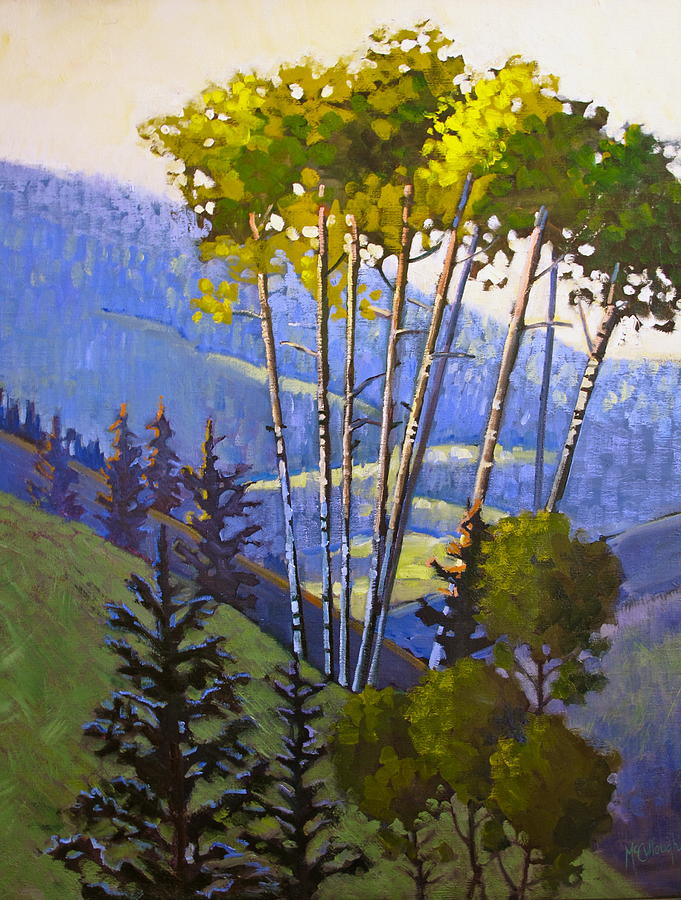 Mountains Painting - Proud Aspen by Susan McCullough