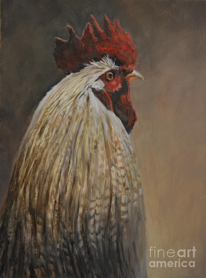 Rooster Painting - Proud Rooster by Charlotte Yealey