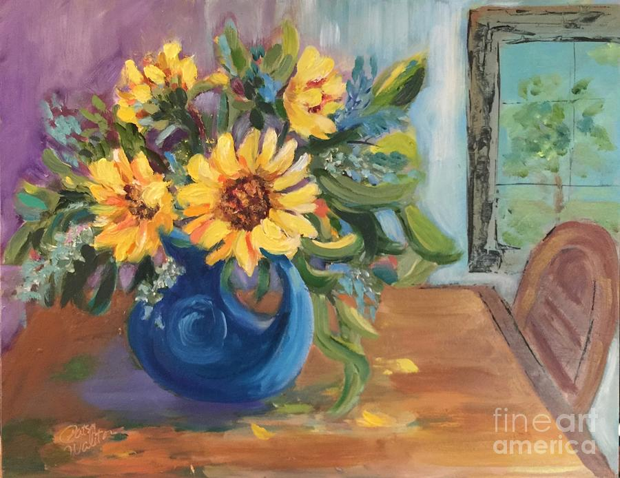 Daisies Painting - Proud To Be Here by Patsy Walton