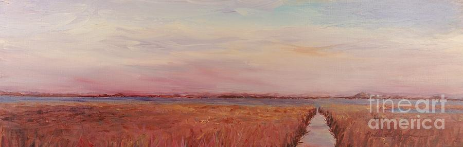 Landscape Painting - Provence Camargue by Nadine Rippelmeyer