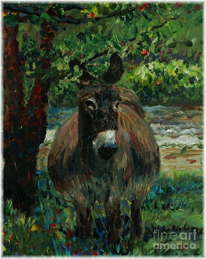 Donkey Painting - Provence Donkey by Nadine Rippelmeyer